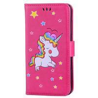 Unicorn peňaženkové puzdro na mobil Xiaomi Redmi Note 4 - rose