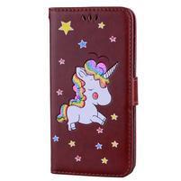 Unicorn peňaženkové puzdro na mobil Xiaomi Redmi Note 4 - hnedé