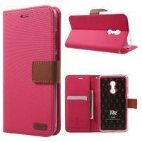 Roarlux knížkové puzdro pre mobil Xiaomi Redmi Note 4 - rose