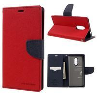 Diary PU kožené puzdro pre mobil Xiaomi Redmi Note 4 - červené