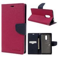 Diary PU kožené puzdro pre mobil Xiaomi Redmi Note 4 - rose