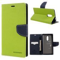 Diary PU kožené puzdro pre mobil Xiaomi Redmi Note 4 - zelené