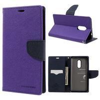 Diary PU kožené puzdro pre mobil Xiaomi Redmi Note 4 - fialové
