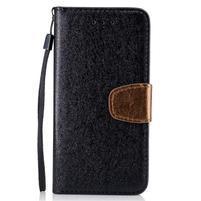 Strapy PU kožené zapínacie puzdro na Xiaomi Redmi Note 4 - čierne