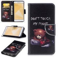 Patty zapínacie peňaženkové puzdro na Xiaomi Redmi Note 4 - zlostný medvedík