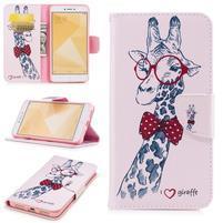 Patty zapínacie peňaženkové puzdro na Xiaomi Redmi Note 4 - žirafa