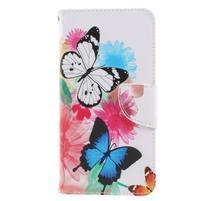 Patty zapínacie peňaženkové puzdro na Xiaomi Redmi Note 4 - motýliky