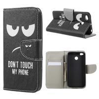 Emotive peňaženkové zapínacie puzdro na Xiaomi Redmi Note 4X - Don´t touch