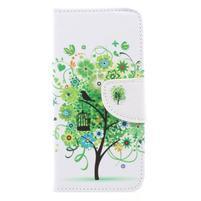Emotive peňaženkové zapínacie puzdro na Xiaomi Redmi Note 4X - zelený strom