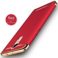 Hybridný 3v1 odolný plastový obal na Xiaomi Redmi Note 4X - červený