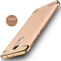 Hybridný 3v1 odolný plastový obal na Xiaomi Redmi Note 4X - zlatý