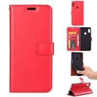 Crazy PU kožené puzdro na Xiaomi Redmi Note 5 - červené
