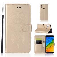 Dream PU kožené puzdro na Xiaomi Redmi Note 5 - zlaté