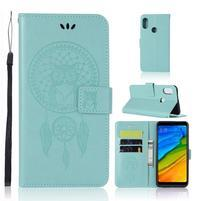 Dream PU kožené puzdro na Xiaomi Redmi Note 5 - cyan