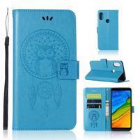 Dream PU kožené puzdro na Xiaomi Redmi Note 5 - modré