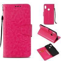 Vintage PU kožené flipové puzdro na Xiaomi Redmi Note 5 - rose