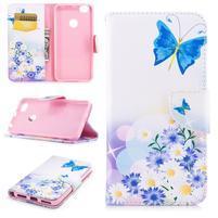 Emotive peňaženkové puzdro na Xiaomi Redmi Note 5A Prime - motýlik a kvetina