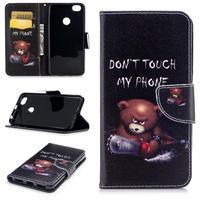 Emotive peňaženkové puzdro na Xiaomi Redmi Note 5A Prime - zlostný medvedík