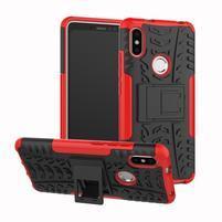 Outdoor odolný hybridný obal na Xiaomi Redmi S2 - červený