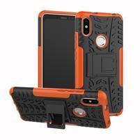 Outdoor odolný hybridný obal na Xiaomi Redmi S2 - oranžový
