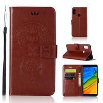 Dream PU kožené peňaženkové puzdro na Xiaomi Redmi S2 - hnedé