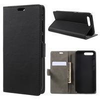 Standy PU kožené puzdro na Asus Zenfone 4 Pro ZS551KL - čierne