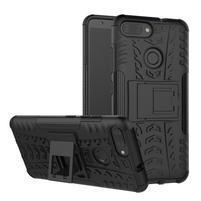 Outdoor odolný obal s výklopným stojančekom na Asus ZenFone Max Plus (M1) ZB570TL - čierny