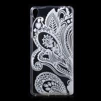 Ultratenký gélový obal na Sony Xperia E5 - květina