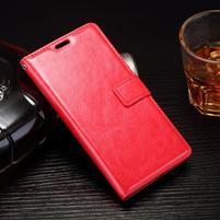 Horss PU kožené puzdro pre Sony Xperia E5 - červené