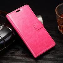 Horss PU kožené puzdro pre Sony Xperia E5 - rose