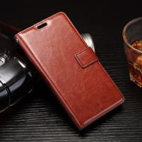 Horss PU kožené puzdro na Sony Xperia E5 - hnědé