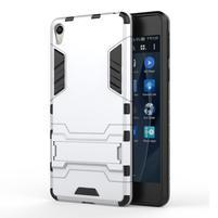 Outdoor odolný obal pre mobil Sony Xperia E5 - strieborný