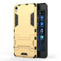 Outdoor odolný obal na mobil Sony Xperia E5 - zlatý