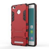 Outdoor odolný obal pre Xiaomi Redmi 3 Pro - červený