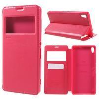 Richi PU kožené puzdro s okienkom na Sony Xperia XA Ultra - rose