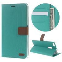 Diary peňaženkové puzdro pre mobil Asus Zenfone 3 Ultra - cyan