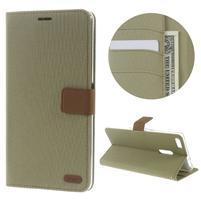Diary peňaženkové puzdro pre mobil Asus Zenfone 3 Ultra - khaki