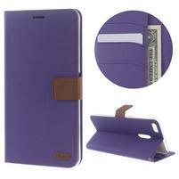 Diary peňaženkové puzdro pre mobil Asus Zenfone 3 Ultra - fialové