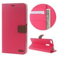 Diary peňaženkové puzdro pre mobil Asus Zenfone 3 Ultra - rose