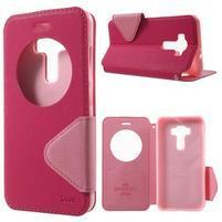 Diary puzdro s okienkom pre mobil Asus Zenfone 3 ZE520KL - rose