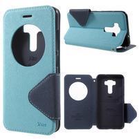Diary puzdro s okýnkem na mobil Asus Zenfone 3 ZE520KL - světlemodré