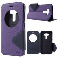 Diary puzdro s okýnkem na mobil Asus Zenfone 3 ZE520KL - fialové