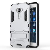 Odolný obal pre mobil Asus Zenfone 3 ZE520KL - strieborný