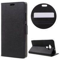 Leathy peňaženkové puzdro pre Asus Zenfone 3 ZE520KL - čierne