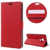 Leathy peňaženkové puzdro pre Asus Zenfone 3 ZE520KL - červené