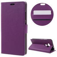 Leathy peňaženkové puzdro na Asus Zenfone 3 ZE520KL - fialové