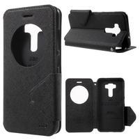 Diary puzdro s okienkom pre mobil Asus Zenfone 3 ZE520KL - čierne