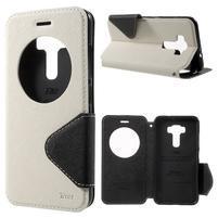 Diary puzdro s okýnkem na mobil Asus Zenfone 3 ZE520KL - biele