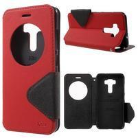 Diary puzdro s okýnkem na mobil Asus Zenfone 3 ZE520KL - červené
