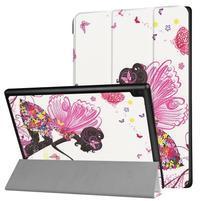 Pattern obrázkové polohovateľné puzdro pre tablet Lenovo Tab 4 10 Plus - dievča s krídlami